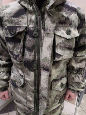 """Костюм арт.5567 """"Горка Мох серый"""" Премиум класс, армированная ткань+термофлис+термофин, зима"""