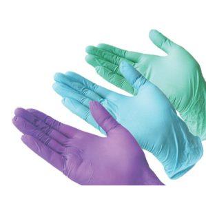 Перчатки одноразовые смотровые нитриловые неопудренные