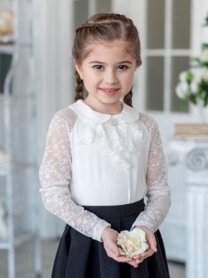"Блузка школьная ""Флоренция"" трикотажная ванильная"