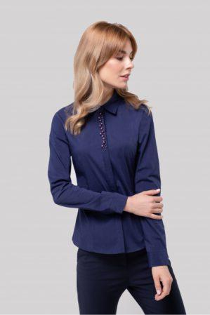 Блузка школьная подростковая синяя