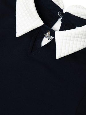 Платье школьное чёрное с белым воротником