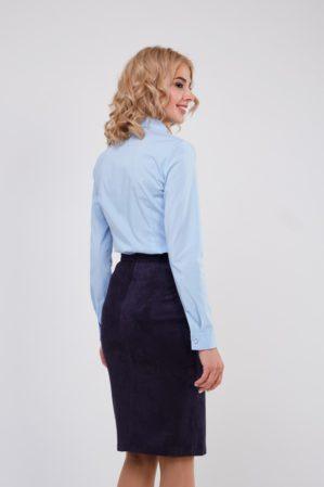 Блузка школьная подростковая голубая