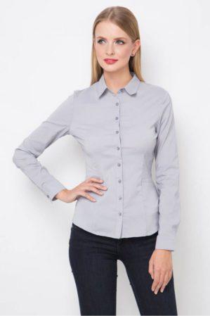Блузка школьная подростковая серая