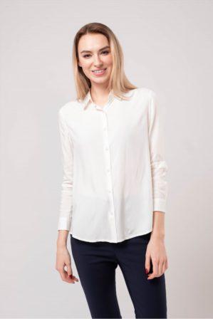 Блузка школьная подростковая молочная