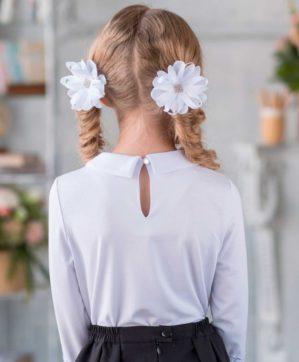 "Блузка школьная ""Софита"" трикотажная белая"