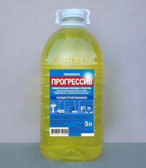 """Универсальное моющее средство """"Прогрессив"""" концентрированное жёлтое 5 л"""