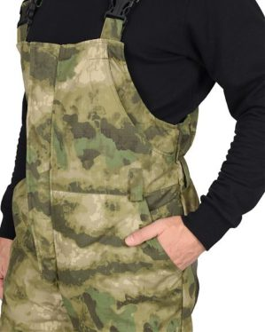 "Костюм ""Горка-Лес"" арт. 5937 кмф зелёный, куртка+п/к, термофилл+флис, рип-стоп"