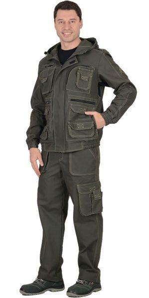 "Костюм ""Канзас"" тёмный хаки, куртка+брюки"