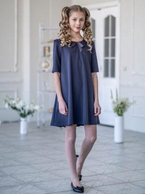 """Платье школьное """"Августина"""" серое"""