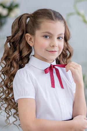 """Блузка школьная """"Октябрина"""" белая"""