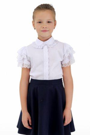 Блузка школьная белая арт. 6122