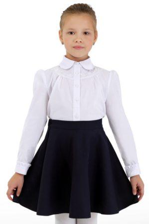 Блузка школьная белая арт. 6121