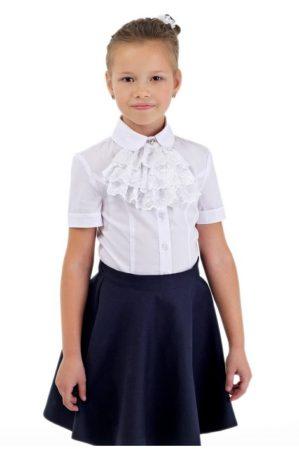 Блузка школьная белая арт. 6123