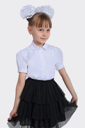 Блузка школьная белая арт. 6126