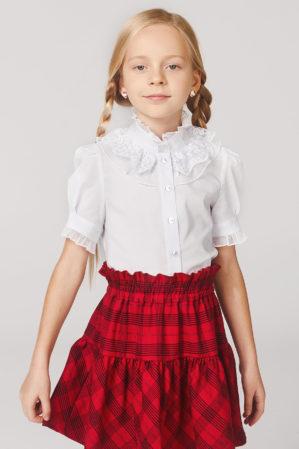 Блузка школьная белая арт. 6130