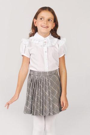 Блузка школьная белая арт. 6131