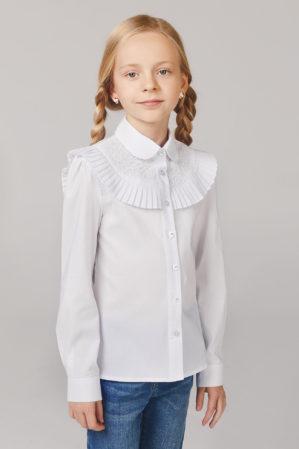 Блузка школьная белая арт. 6132