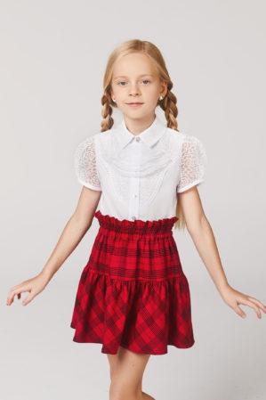 Блузка школьная белая арт. 6133