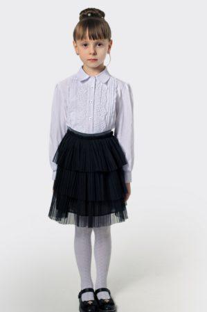 Блузка школьная белая арт. 6124