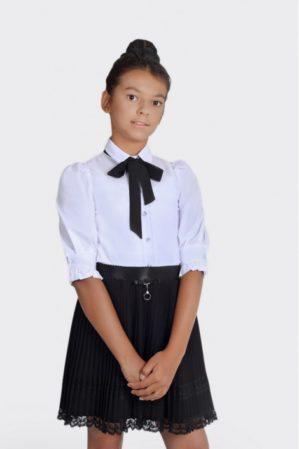 Блузка школьная белая арт. 6129