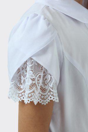 Блузка школьная белая арт. 6120
