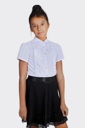 Блузка школьная белая арт. 6125