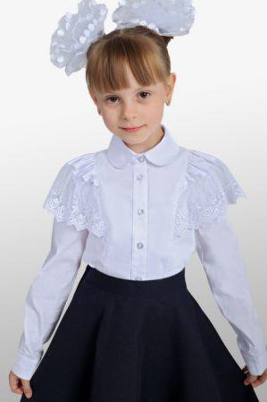 Блузка школьная белая арт. 6128