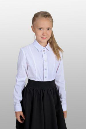 Блузка школьная белая арт. 6127