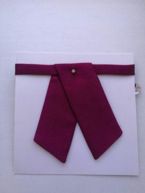 Галстук-галочка бордовый фактурный для девочки