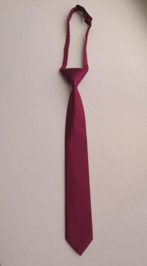 Галстук школьный бордовый, ткань фактурная