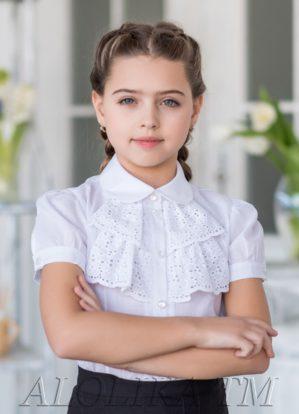 """Блузка школьная """"Аурика"""" белая"""
