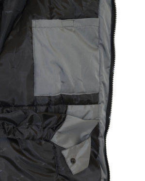"Куртка рабочая ""Метеор"" утеплённая серая с чёрным"